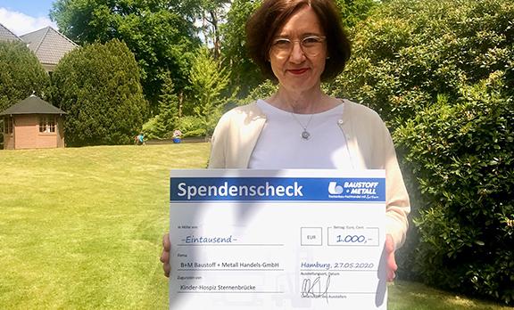 Erste Spendenübergabe, 1.000 €